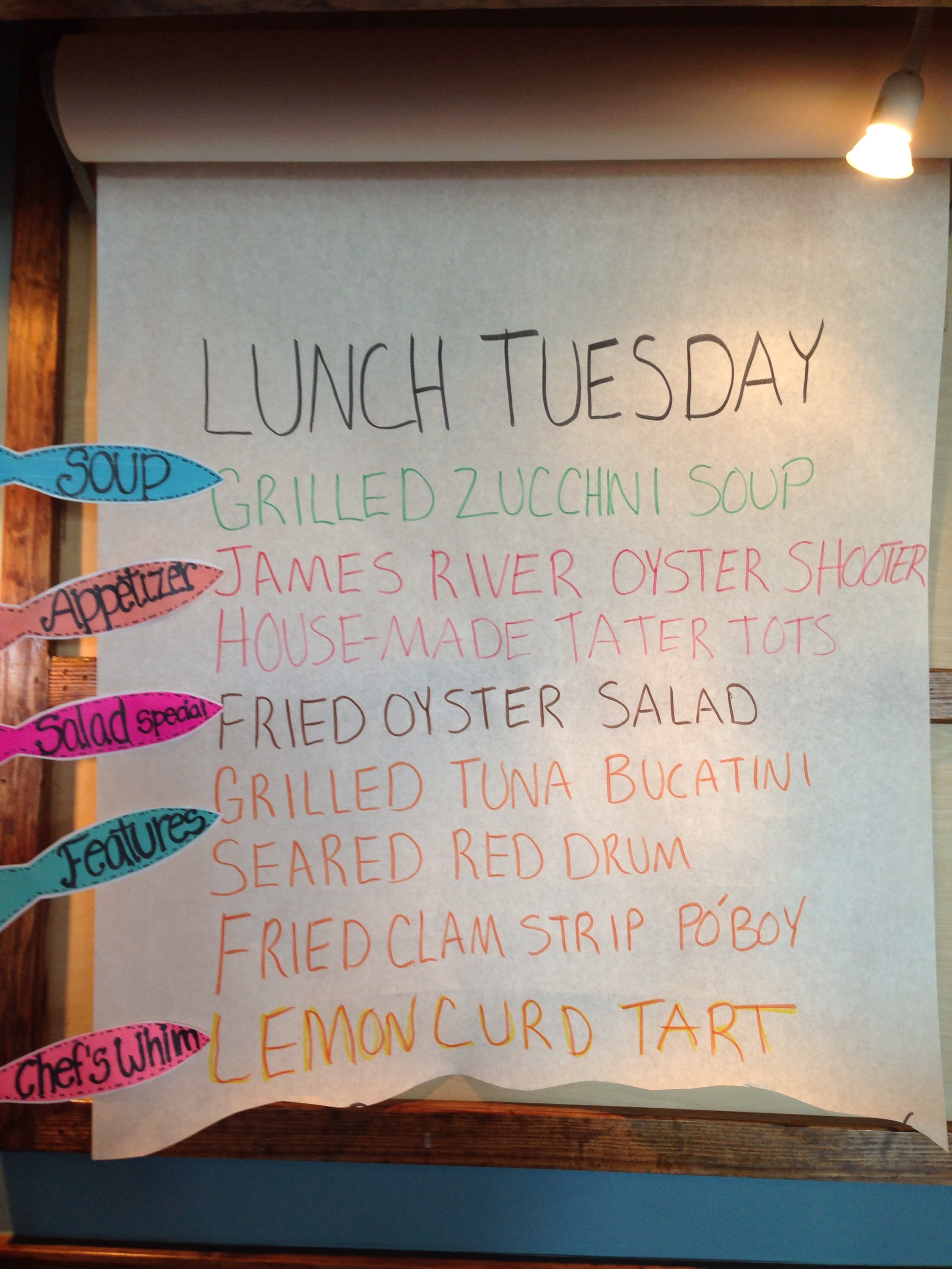 Tuesday may 5 lunch specials blue water grill - Bluewater grill seafood restaurant oyster bar ...