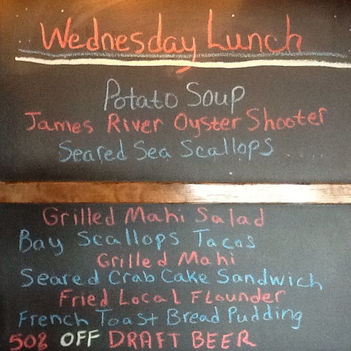 Wed Food Specials: Wednesday Lunch Oct 21