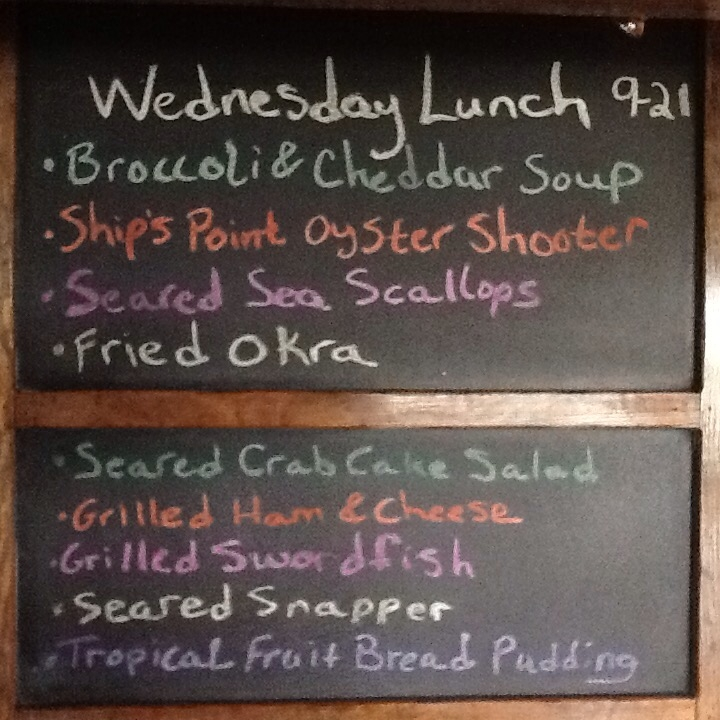 Wed Food Specials: Wednesday Lunch Specials: Grilled Ham & Cheese, Snapper