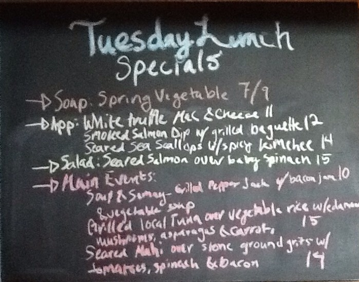 Tuesday lunch specials salmon mahi tuna bbq blue - Bluewater grill seafood restaurant oyster bar ...