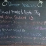 Saturday Dinner Specials! Scallops, Oysters, and Salmon!