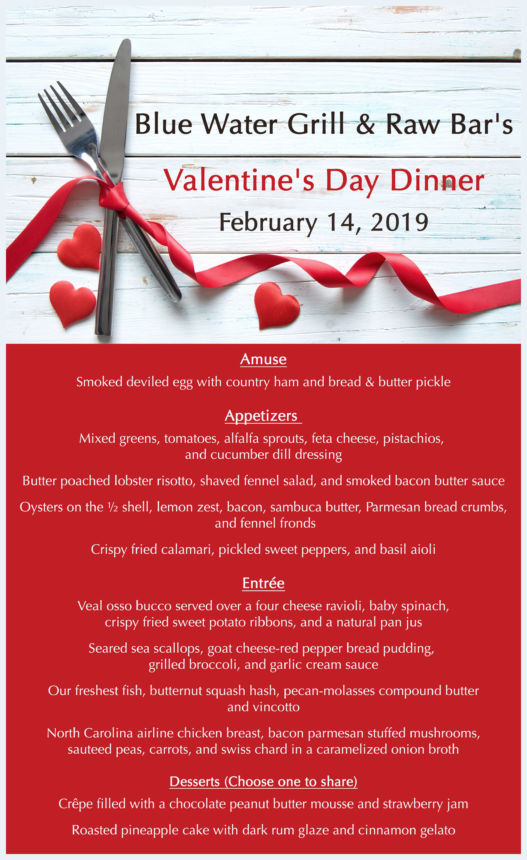 Valentine's Day 2019 Menu
