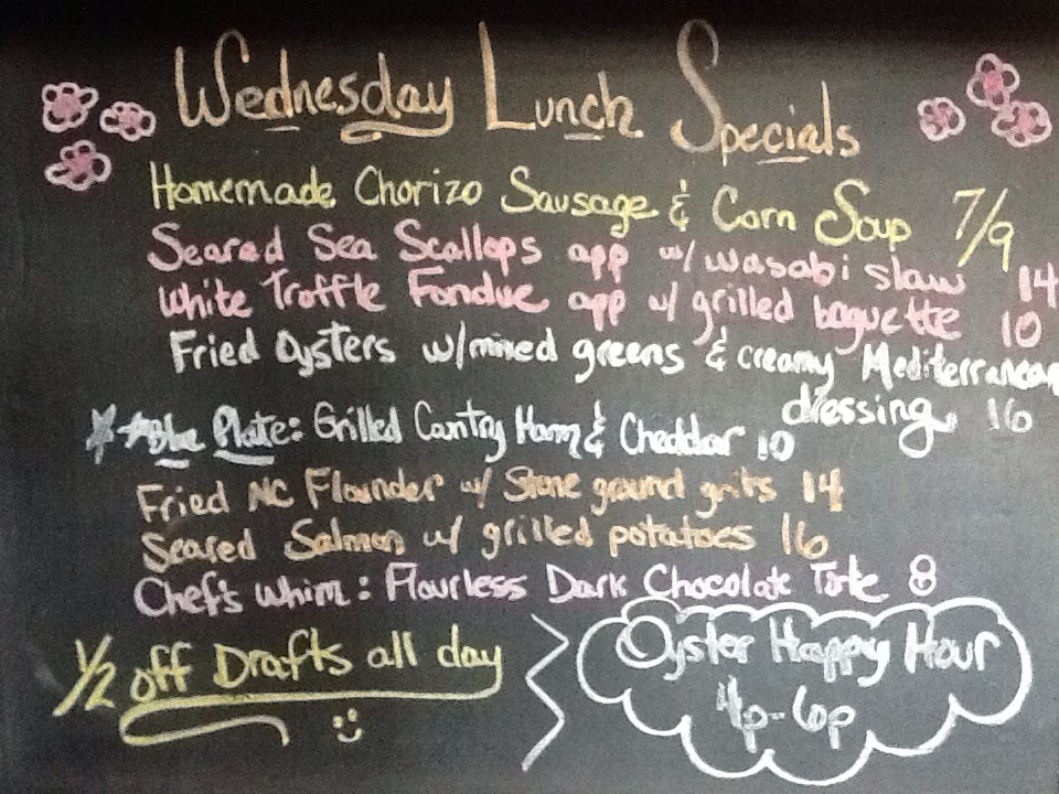 Lunch Specials For Wednesday 4 17 Oysters Scallops Fried