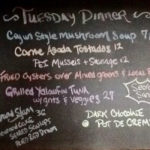 Dinner Specials Tuesday July 16th, 2019