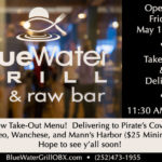 Open Friday, May 1, 2020 for Take-Out and Delivery!  Check Out Menu and Details Here…