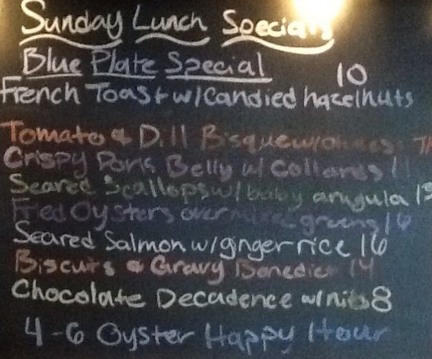 Sunday Lunch Specials