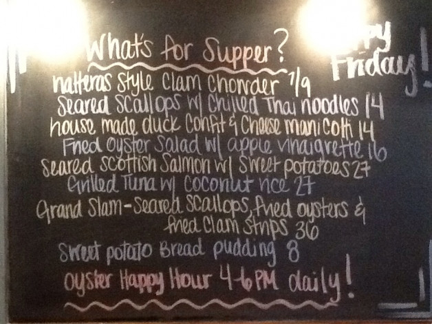 Friday Dinner Specials with Clam Chowder, Duck Confit Manicotti & Scottish Salmon!