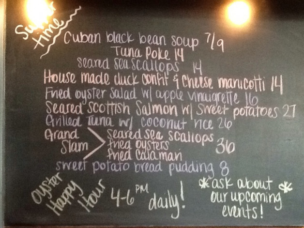 Saturday Dinner Specials Featuring Scallops, Tuna & Salmon!