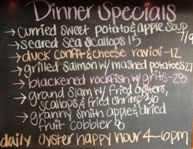 Dinner Specials Friday, January 18th, 2019