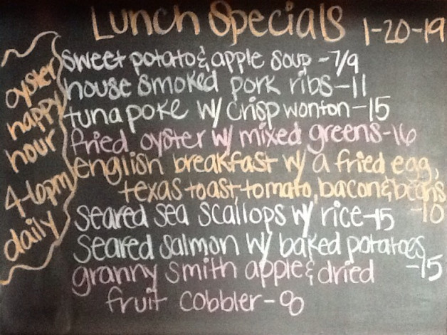 Lunch Specials Sunday, January 20th, 2019