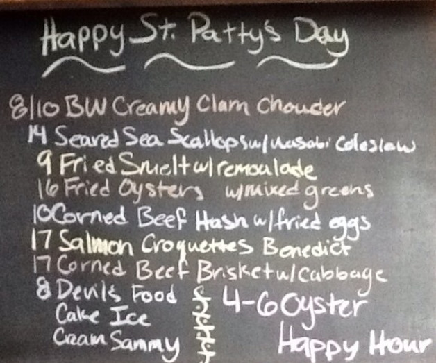 St. Patrick's Day Lunch Specials