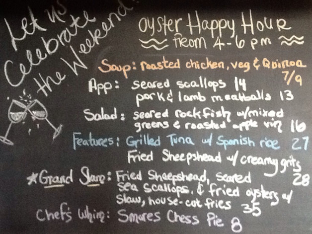 Saturday Dinner Specials: scallops, sheepshead, oysters….and delicious Smores Chess Pie… not to be missed.  :)
