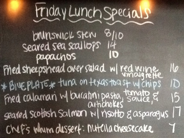 Lunch Specials for today include: Sheepshead, Salmon and Tuna!