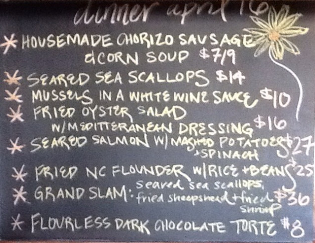 Tuesday Dinner Specials: 1/2 Off Bottles of Wine & 4-6 Oyster Happy Hour