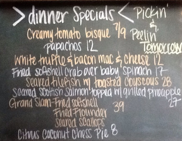Dinner Specials Friday, May 17th, 2019