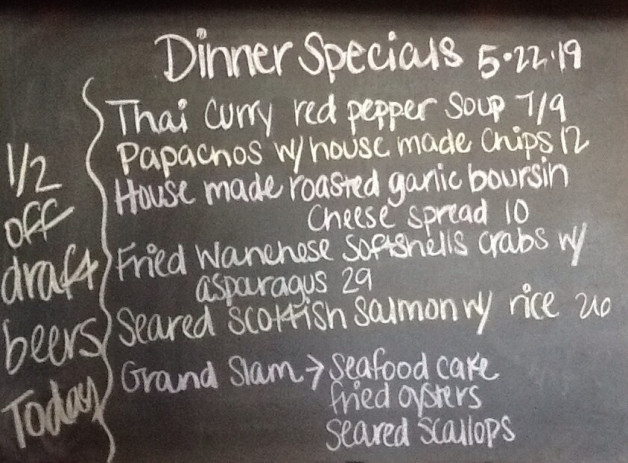 Dinner Specials Wednesday, May 22, 2019