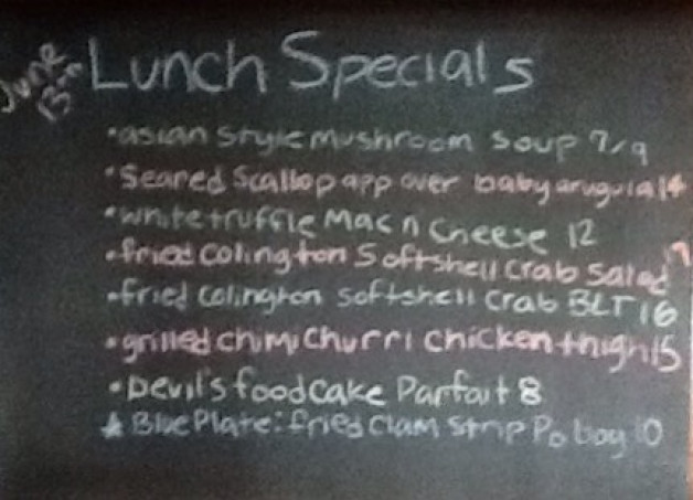 Thursday Lunch Specials
