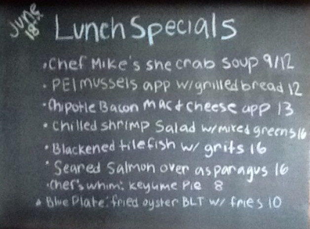 Tuesday Lunch Specials