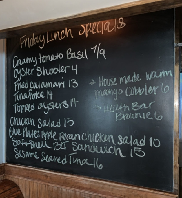 Friday May 29th Lunch Specials