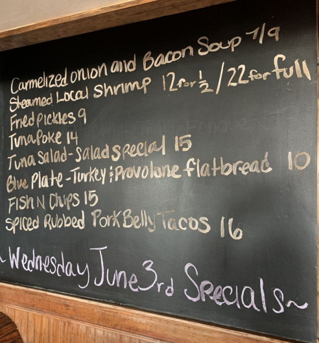 Wednesday June 3rd Lunch Specials