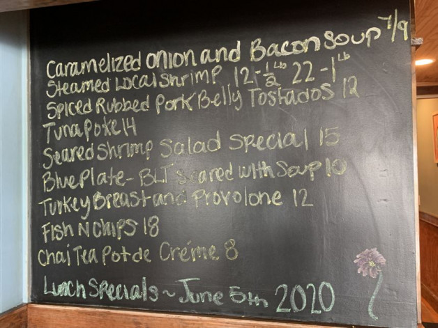 Lunch specials- June 5th
