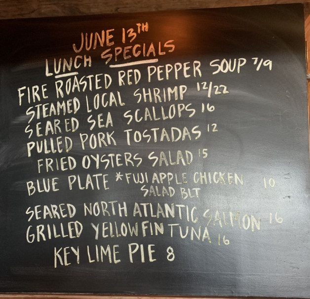 6/13 Lunch Specials