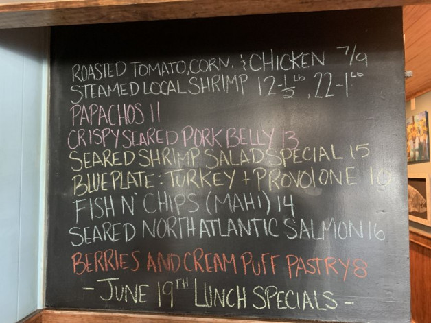 June 19th Lunch Specials