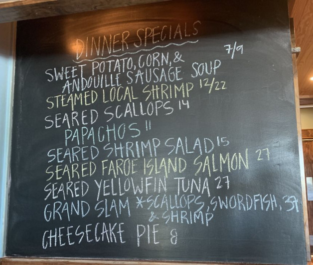 Dinner Specials for 6/26