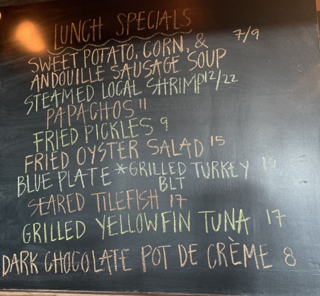 Lunch Specials for 6/27