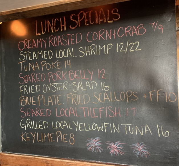 July 3rd Lunch Specials