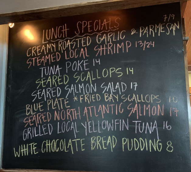 Lunch Specials for 7/9