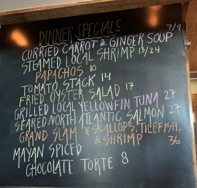 Dinner Specials for 8/2