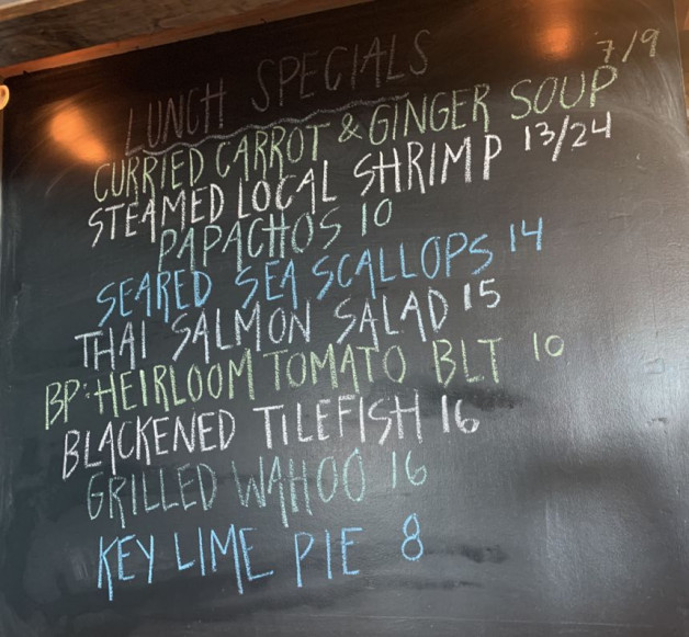 Lunch Specials for 8/6