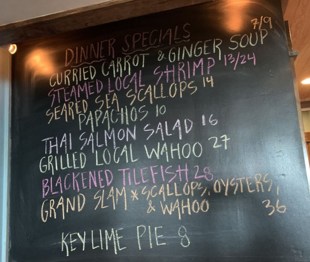 Dinner Specials for 8/6