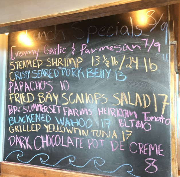 Lunch Specials 08/09/2020