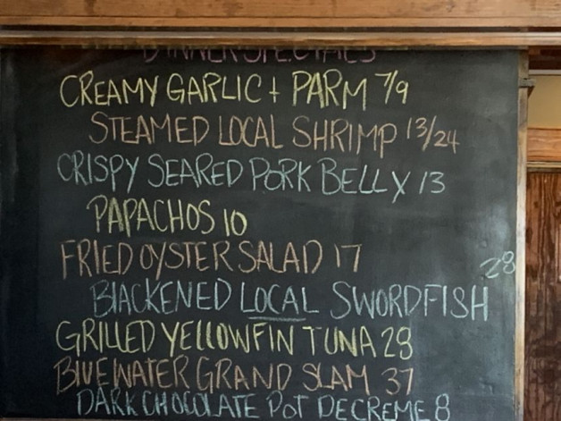 August 9th Dinner specials
