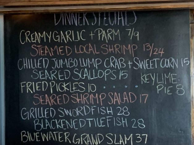 August 13th Dinner Specials