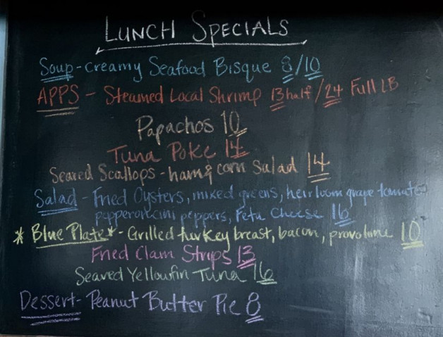 Lunch Specials- Wednesday August 19th, 2020