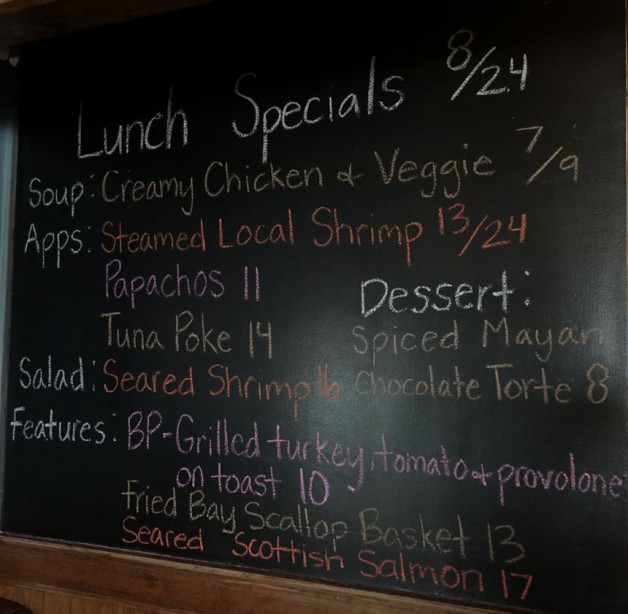 Lunch Specials 8/24