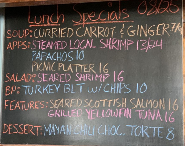 Lunch Specials 08/25