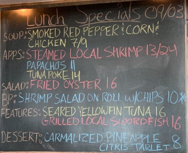 Lunch Specials 09/03