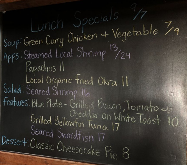 Lunch Specials 9/7