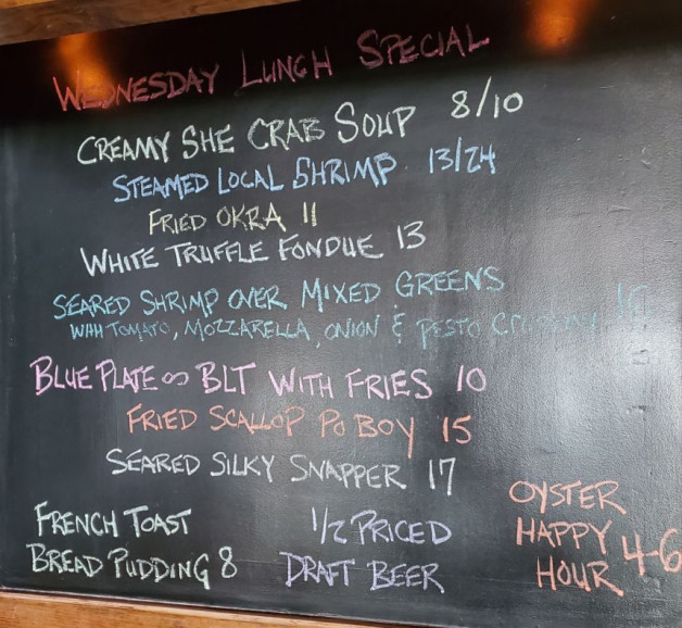 Wednesday September 23 Lunch Specials