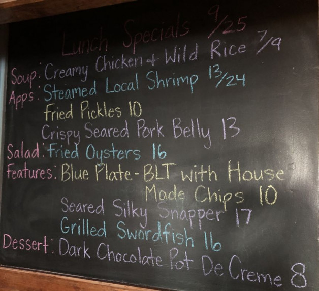 Lunch Specials 9/25