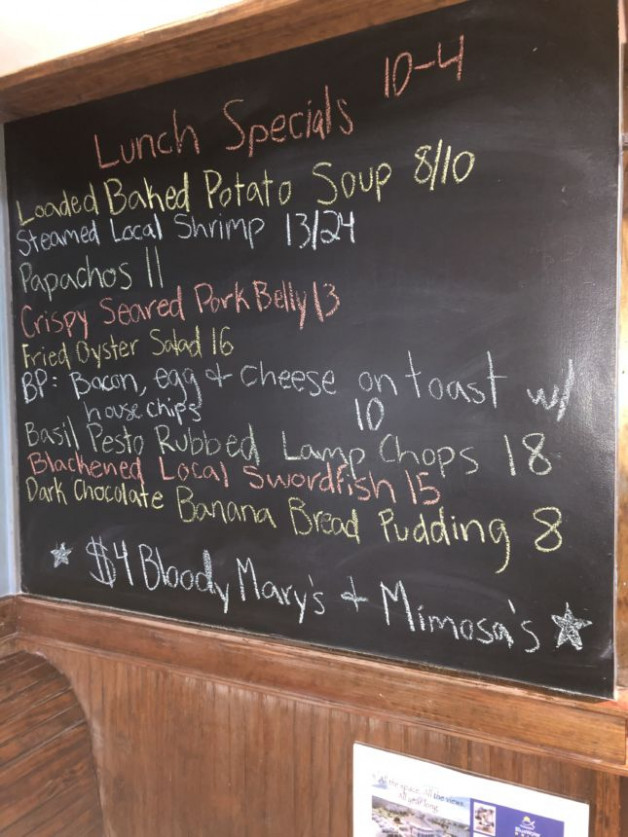 Lunch Specials 10/4/2020