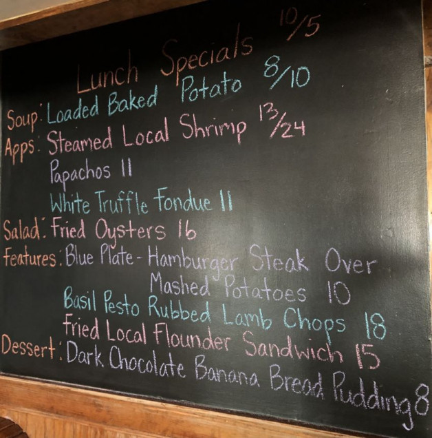 Lunch Specials 10/5