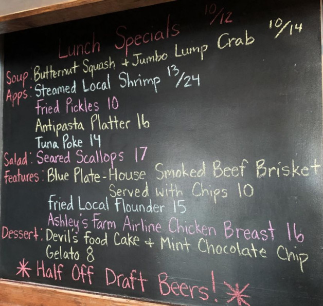 Lunch Specials 10/12
