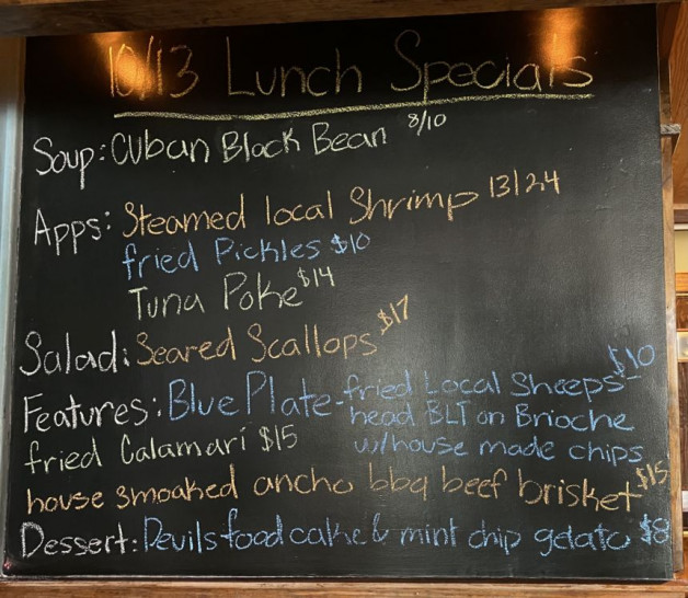 10/13 Lunch Specials