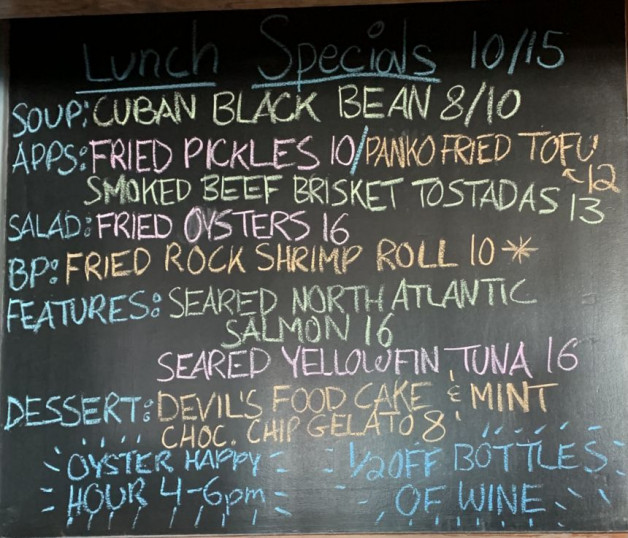 Lunch Specials 10/15