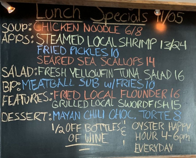 Lunch Specials 11/05